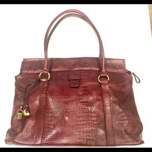 Bueno Vintage Croc Embossed Faux Leather Tote Bag